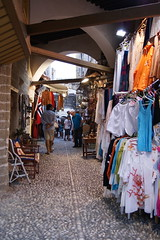 Narrow shopping street. (Steenjep) Tags: holiday shop shopping greece rhodes rhodos