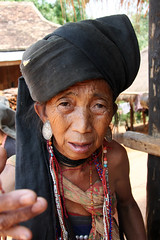Akhu tribal woman in the village of Wansai, Shan state, Myanmar (Burma) (sensaos) Tags: travel portrait people woman face asia state burma tribal jewellery myanmar shan tribe ethnic burmese birma indigenous azie shanstate azië birmese akhu sensaos