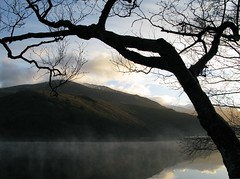 nOt jUSt anOtheR mORninG (QuakaJaQ) Tags: uk morning blue winter light sky mist mountain lake snow black mountains cold colour tree nature water wales clouds sunrise canon reflections early colours silhouettes powershot snowdonia wysiwyg blueribbonwinner g9 dream0n