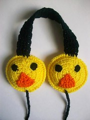 Quacky the duck earmuffs (Mooy) Tags: cute animal yellow shop fun duck handmade crochet duckling kawaii etsy mooeyandfriends