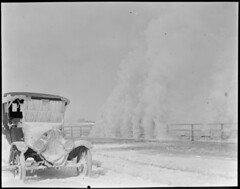 Winthrop auto stalled on Winthrop Beach Boulevard and surf raises havoc to it (Boston Public Library) Tags: weather storms floods lesliejones