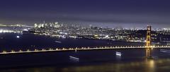 San Francisco (allen tai) Tags: sf sanfrancisco california ca longexposure bridge night nikon goldengate baybridge bayarea 1855mm marinheadlands d5100