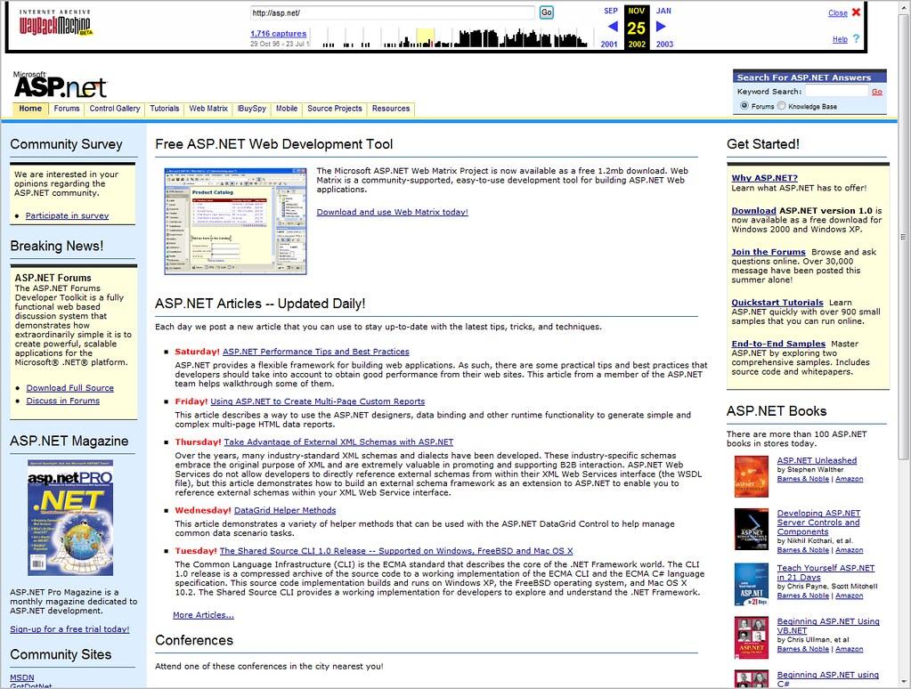 ASP.NET Site - 2002