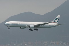 B-HNK (IndiaEcho) Tags: airplane airport pacific aircraft cx aeroplane hong kong boeing 777 cathay hkg 773 cpa 777300 vhhh bhnk