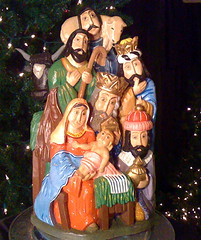 Polish carved nativity