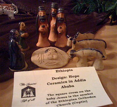 Ethiopian ceramic nativity