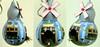 casinha listra azul (BILUCA ATELIER) Tags: gourds bees ladybugs cabaças pinturacountry porongos homebirds biluca casinhasdepassarinho