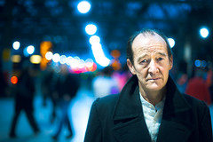 David Hayman (TGKW) Tags: portrait people man david face station train lights king theatre bokeh glasgow coat central scottish shakespeare actor hayman citizens lear 4131