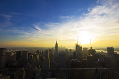 NYC Sunset. (kriegs) Tags: city nyc newyorkcity sunset skyline cityscape manhattan 1020mm topoftherock