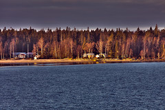 Lulea_SWEDEN_11_2011_6_HDR (k.kazantzoglou Life is full of surprises!!! :)) Tags: autumn trees houses sea house seascape island day forrest cloudy sweden hdr beautifull lulea swe 3x mygearandme mygearandmepremium