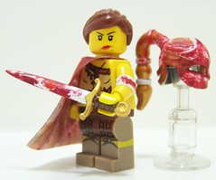 Ivory Assassin (Silenced_pp7) Tags: brick female blood arms lego mask painted damien battle legos warrior blade minifig minifigs custom vignette figs assassin minifigure moc brickarms brickwarrior