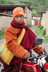 I like riding motorbike (tsemdo.thar) Tags: buddhist monk buddhism tibet monastery tibetan    golok            jigdril palyultarthangmonastery
