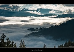 Appenzell (picture 4B) Tags: light sky sun fog clouds landscape schweiz switzerland nebel view hiking sony wolken hike berge aussicht sonne wandern montain stanton appenzell landschaften a77 nebelmeer heiden oberegg sonya77