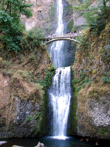 bridge usa oregon landscapes waterfall columbiariver pools multnomahfalls columbiarivergorge dgrahamphoto
