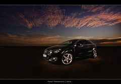 58.2011 - Opel Astra (Pawel Tomaszewicz) Tags: sunset sky colors car clouds sunrise canon europe wide wideangle dorset fotografia bournemouth poole astra opel vauxhall pawel chmury strobist tomaszewicz paweltomaszewicz