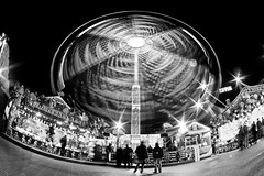 Snowflake (Winter Wonderland Wheel), Hyde Park (flatworldsedge) Tags: christmas longexposure winter london ride fairground spin fisheye hydepark wonderland zenitar starburst uwa
