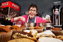 My Mother The Baker (Zack Ahern) Tags: portrait cooking cookies baking baker cook sweets flour zack ahern