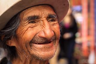 Salesman on the Textile Market of Otavalo (Ecuador)