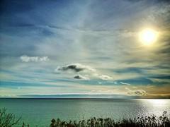 clear and crisp (@ThetaState) Tags: blue sky sun toronto ontario canada water clouds december day cloudy crisp lakeontario 2011 digitalcameraclub visipix