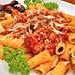 Mmm... rigatoni with Italian sausage and tomato sauce