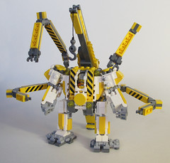 Beaver Hardsuit 003 (OrangeKNight) Tags: arms lego crane hard engineering mini canadian beaver arctic suit minifig division combat mecha mech mechanized hardsuit faction