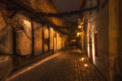 St Catherine's Passage (TheFella) Tags: road street door city longexposure urban slr window stone night digital photoshop canon eos lights photo high alley europe tallinn estonia dynamic stones capital baltic medieval historic unescoworldheritagesite unesco photograph alleyway lane processing slowshutter burial 5d nordic dslr passage cobbles oldtown range hdr highdynamicrange carvings stcatherine eesti runes workshops tablets slabs passageway markii katariina postprocessing northerneurope photomatix europeancapitalofculture eestivabariik stcatherinespassage katariinakik kik thefella republicofestonia 5dmarkii conormacneill thefellaphotography