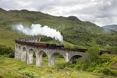 Jacobite steam train, Glenfinnan Viaduct (VisitScotland) Tags: music art train scotland creative harry potter literature jacobite visitscotland