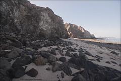 Christmas day at Qantab (jpatt1954) Tags: light shadow sea beach sand rocks oman qantab sunkissed christmasday eroded blackrocks wetsand sigma1020mm 2011 gulfofoman 25december rockcliffs fujis5pro pp2011