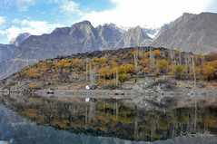 Upper Kachura Lake (Haroon Sadiq) Tags: pakistan mountain lake reflection water nikon upper 18200mm d90 skardu kachura northerarea