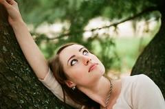 Eyes you'll never forget (Scott Southall) Tags: portrait amanda tree film girl 35mm project model eyes nikon superia letter fujifilm loveletter kickstarter whysoserious 122011