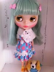 Sally got a new puppy dress ..((: