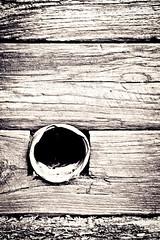 Empty (vujiphotos) Tags: wood urban texture pattern pipe beam drain duotone rough splittone