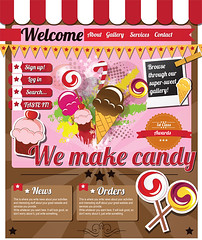 Website-template-Sweets (BlueLela) Tags: original shadow abstract green sign modern illustration bar vintage project menu studio layout idea design site sidebar colorful gallery pattern shine candy symbol background web tag flash internet journal creative style www icon business company website icecream page frame button sweets portfolio simple template navigation stylish tabs browse candyshop editable