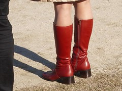 middle heel knee high boots () Tags: redbrown longboots