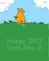 Happy New Year! (abelincolnjr) Tags: illustration sketch char abelincolnjr 2012 mangastudio4