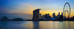 Singapore 2012 countdown (Kenny Teo (zoompict)) Tags: city bridge blue light sunset sea sky cloud seascape reflection building tourism water beautiful night sunrise canon wonderful lens landscape photo yahoo google scenery photographer waterfront view walk wave tourist best getty scape kenny marinabaysands newyearevesunset singaporeflyers zoompict beautifulcityscape artsciencemuseum singaporelowerpiercereservoir 2012newyearevesunset gardensbythepark