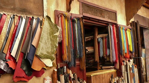 fez souk leather shop