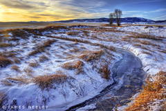 Winter's Threshold (James Neeley) Tags: sunrise landscape idaho hdr winterlandscape 5xp jamesneeley flickr24