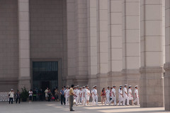 another military group leavin the National Museum (yrebmi) Tags: asia asien beijing september nationalmuseum peking 2011