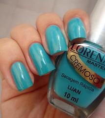 Luan - Lorena! (Bru! (:) Tags: azul nailpolish lorena luan turquesa esmalte