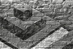 Chevrons and Diamond (Steve Snodgrass) Tags: brick geometric check mural paint angle diamond chevron obtuse acute