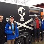BC Ski Team Men visit the Head Factory in Austria, from Left to Right: Tyler Werry, Roger Carry, Brandon Dyksterhouse, Ford Swette