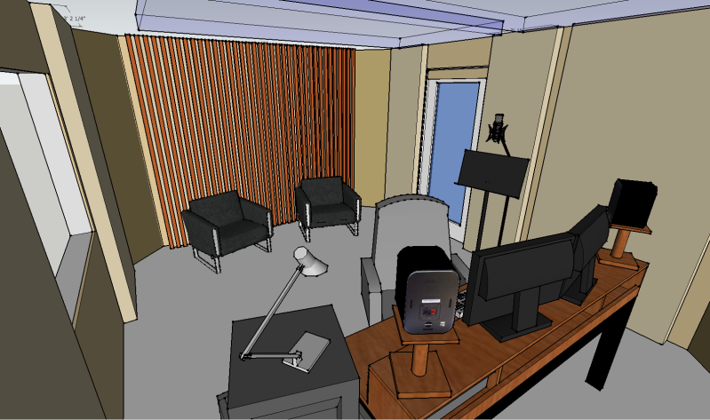A digital rendering of my studio