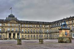Cloudy Schlossplatz (Ramiro Marquez) Tags: city architecture germany deutschland cloudy stuttgart overcast center palace schloss schlossplatz hdr neue newpalace neueschloss