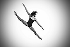 Float Angle (Narratography by APJ) Tags: blackandwhite bw ballet woman beautiful modern dance jump angle le