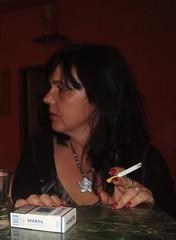 Vlasta 52 age (czemaw) Tags: woman cigarette smoke smoking mature