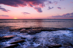 Pink Sunset Beach (Imagevixen1) Tags: pink sunset beach landscape rocks waves australia perth rememberthatmomentlevel1 rememberthatmomentlevel2