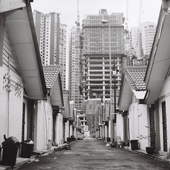 。 (Ifitis) Tags: light blackandwhite white 120 film mediumformat southeastasia kodak tl tmax backstreet malaysia f22 pentacon expired six p6 pentaconsix czj