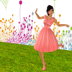 Dreaming of Spring! (KymSara) Tags: fashion blog fifties jewelry blogged sequoia 1950 laq auroraborealis abj gfield ivalde 攝影發燒友