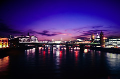 To be, or (A Silent Smile) Tags: city bridge light sunset england sky urban cloud colour reflection london water thames night clouds river lights nikon stream colours central stpaulscathedral d7000